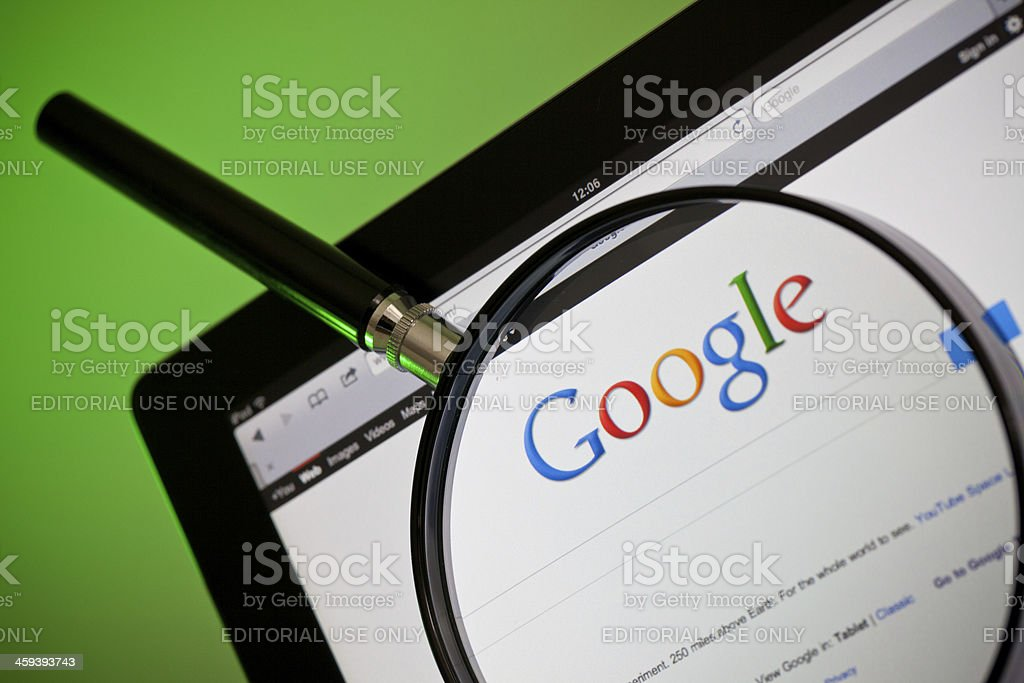 Google Internet Search Website stock photo