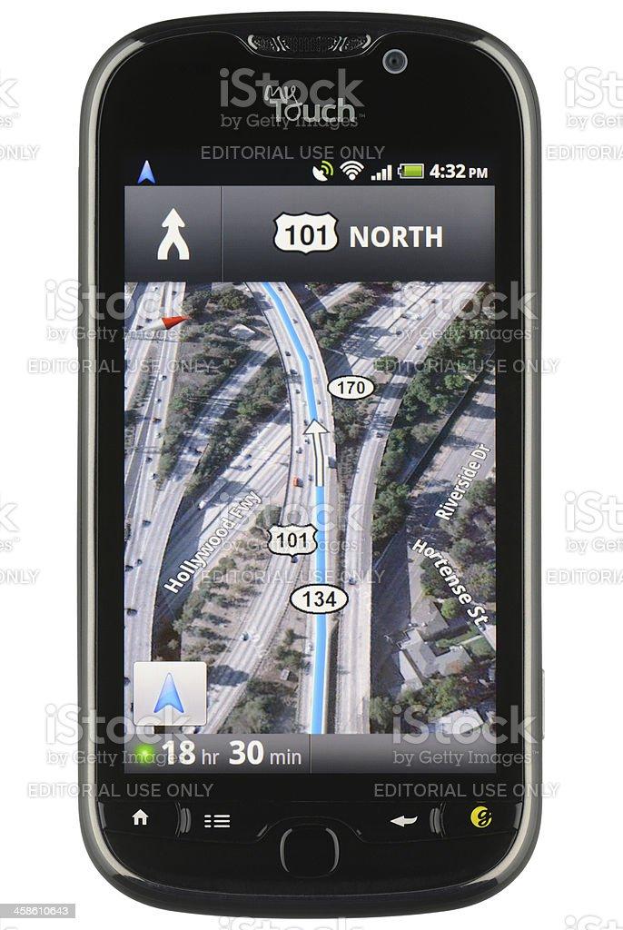 Google Maps Navigation App royalty-free stock photo