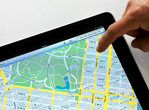 Google Maps auf dem iPad – Foto