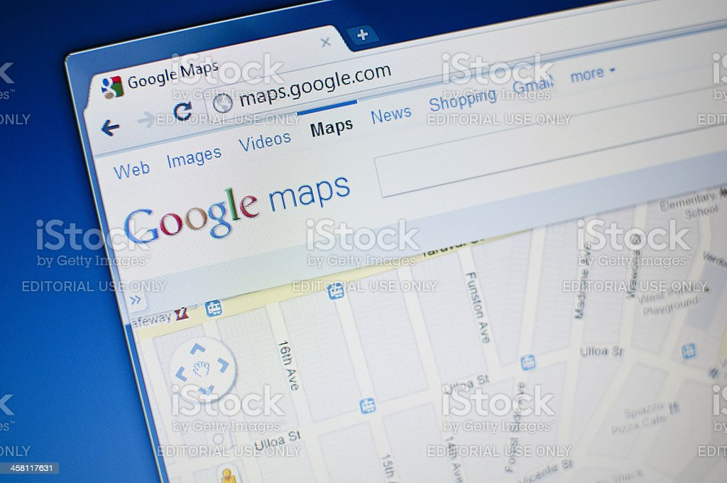 Google maps stock photo
