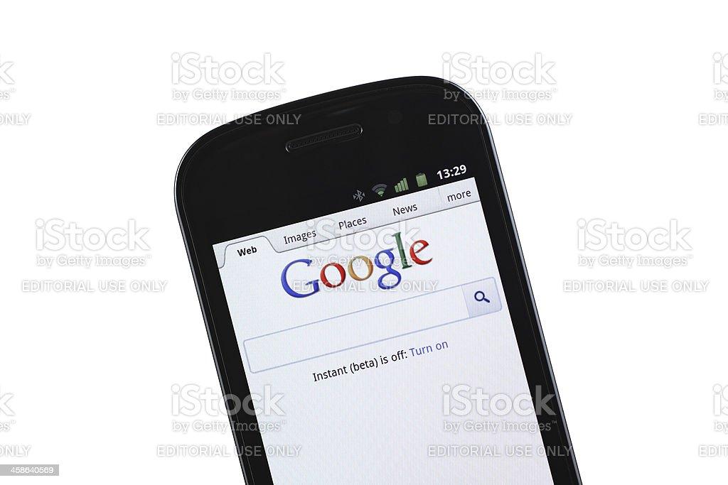 Google mobile site stock photo