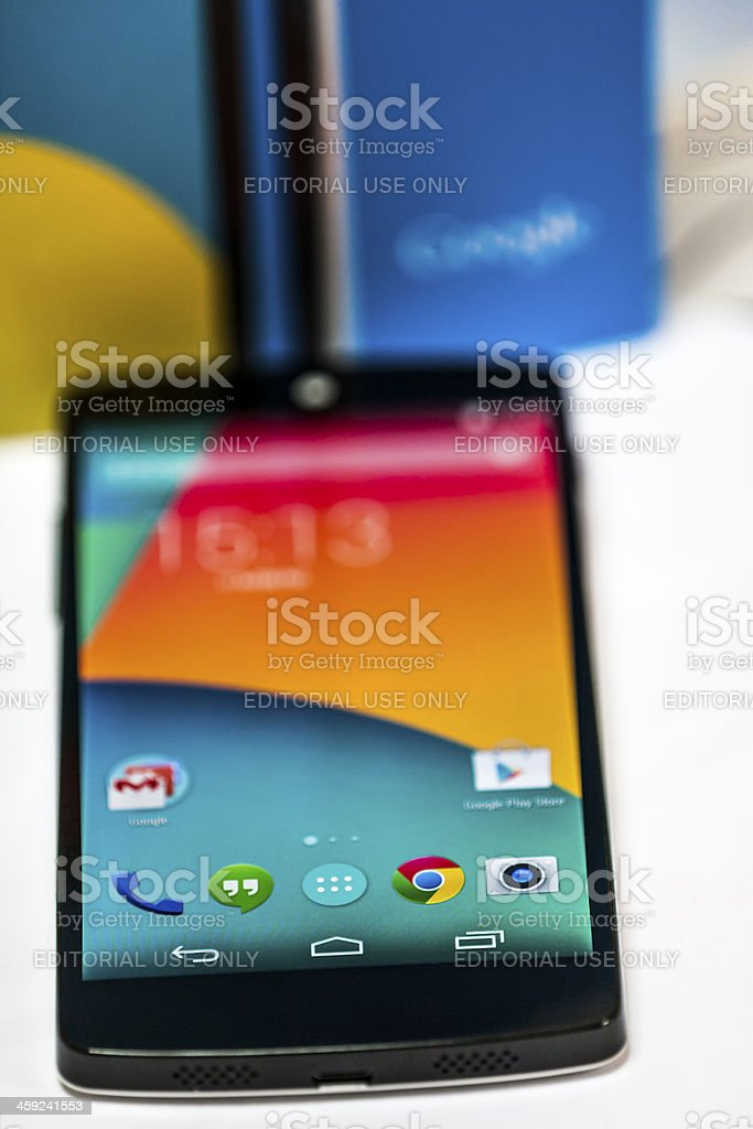 Google NEXUS 5 by LG stock photo