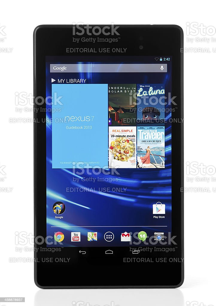 Google Nexus 7 royalty-free stock photo