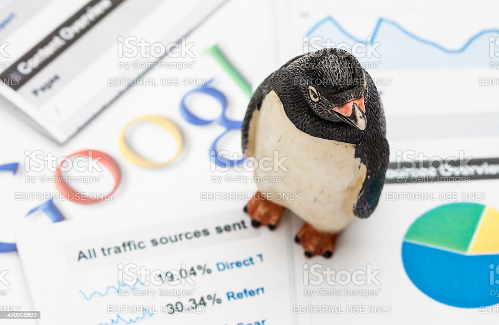 Google  Penguin royalty-free stock photo