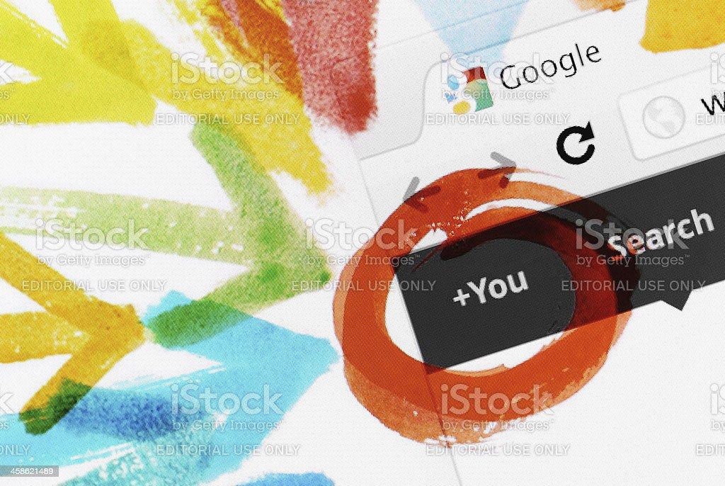 Google+ royalty-free stock photo