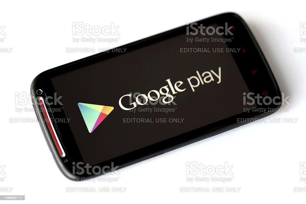 Google Play phone stock photo