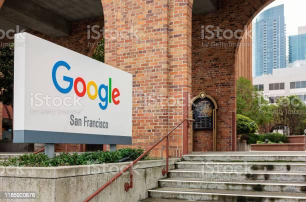 Google San Francisco - Fotografie stock e altre immagini di Affari
