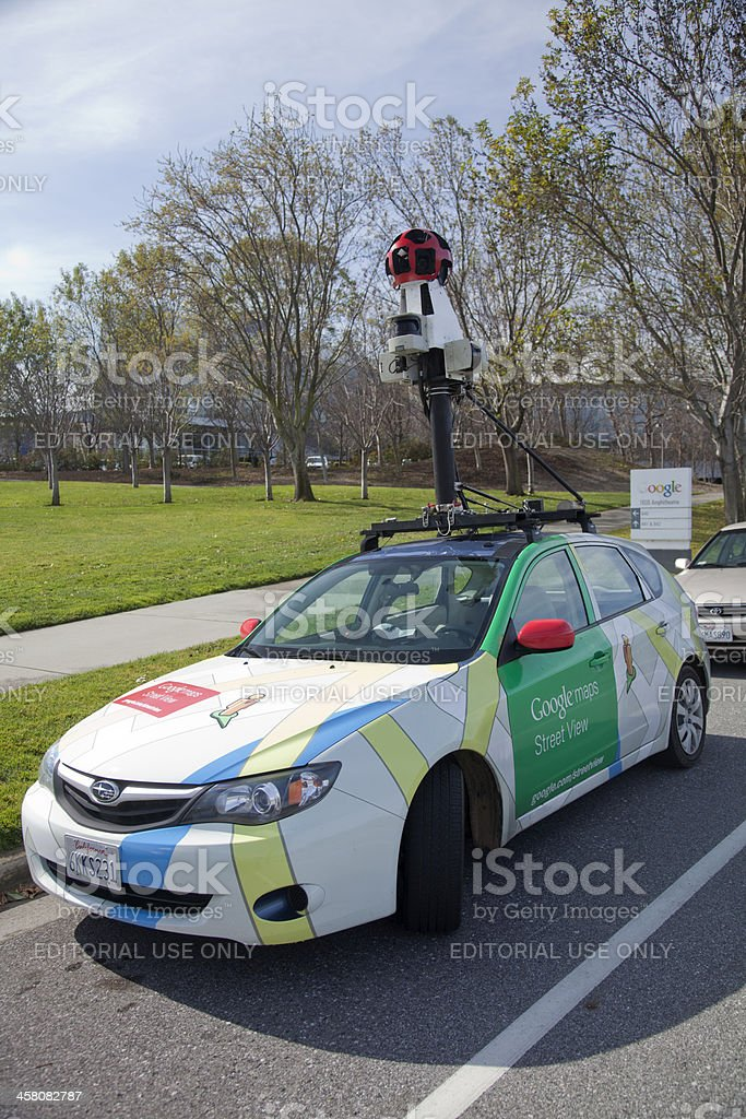 Google Street Maps Car royalty-free stock photo