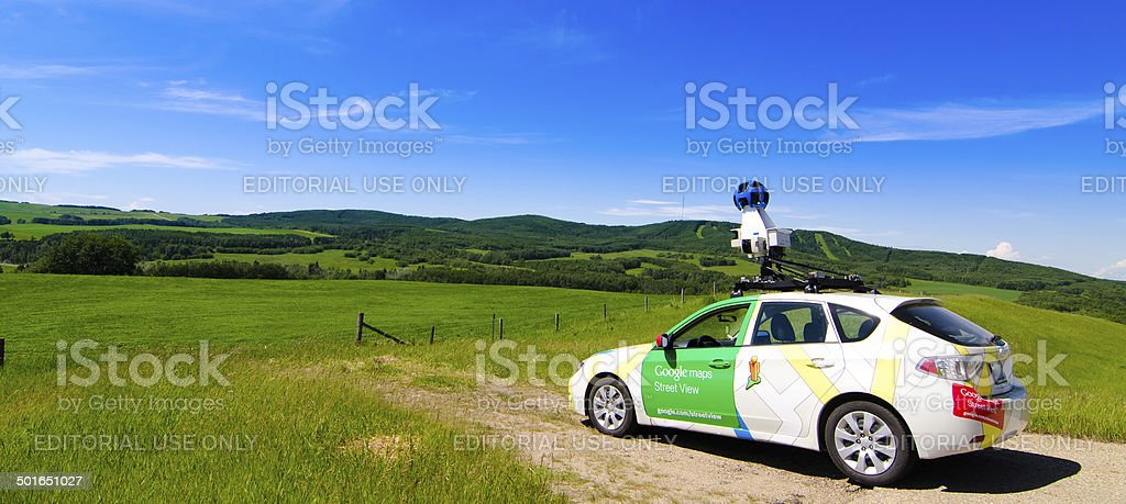 Google Street view Car stock photo