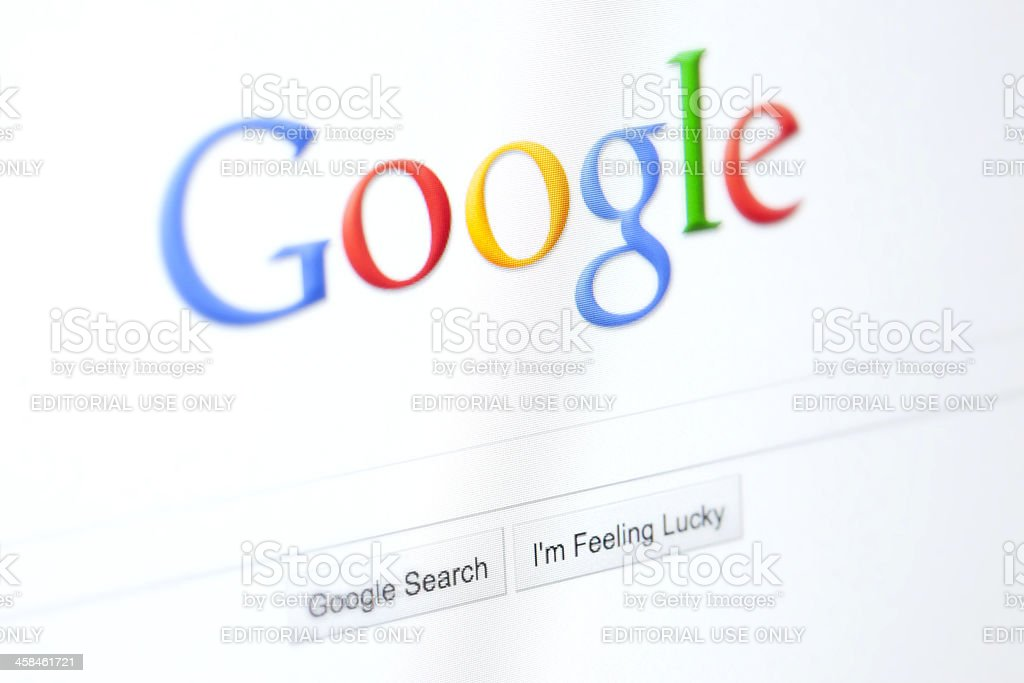 Google Website stock photo