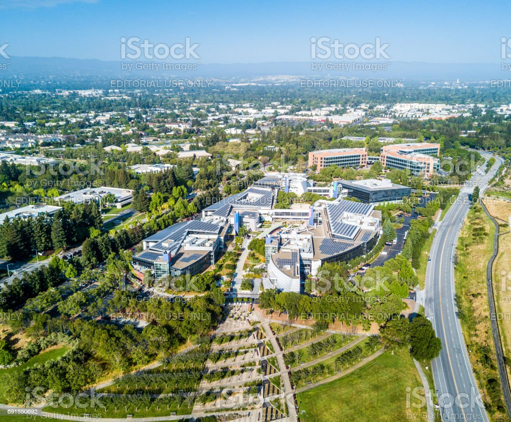Googleplex - Google Headquarters in California stock photo