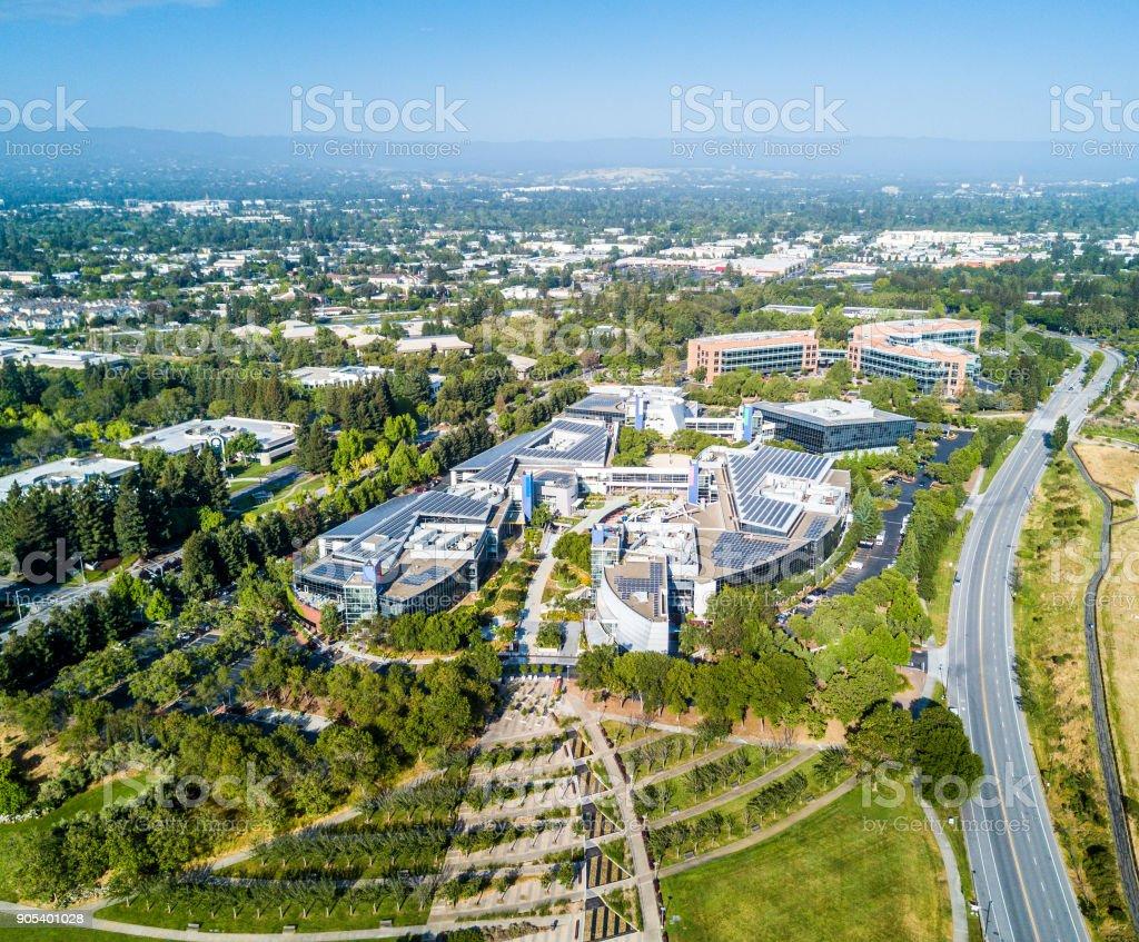 Googleplex - Google Headquarters in California stock photo