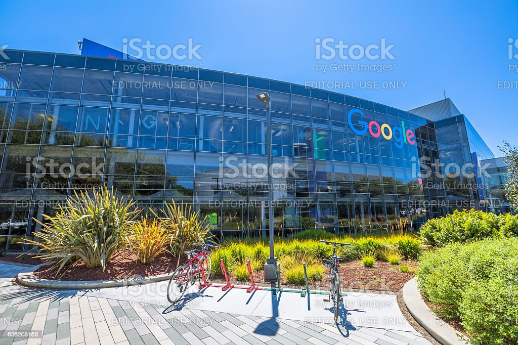 Googleplex Mountain View stock photo
