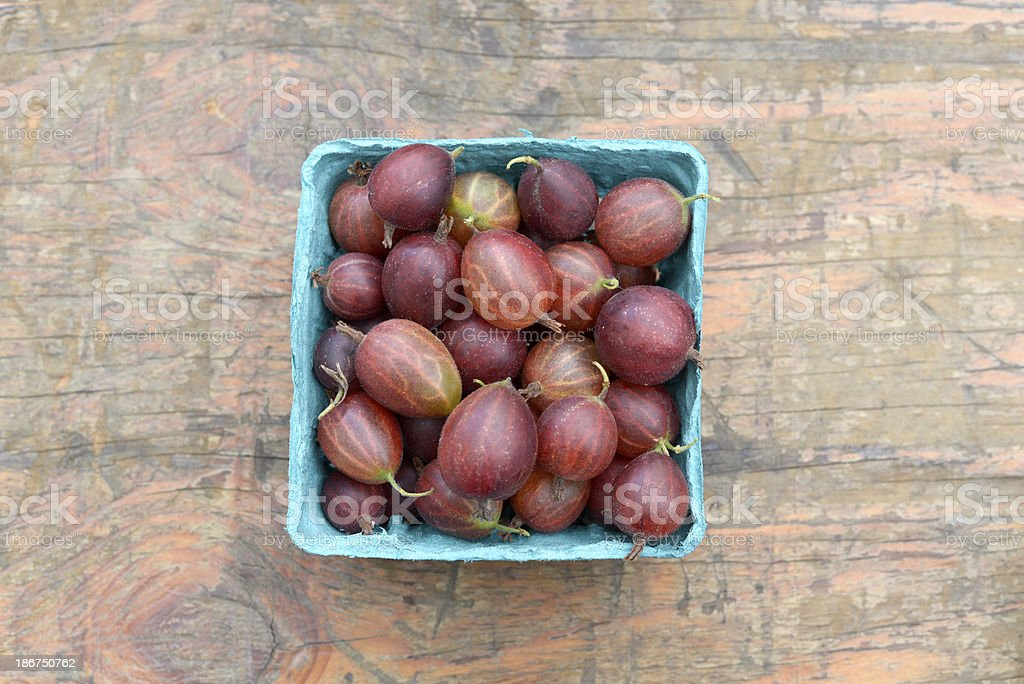 Gooseberries at Farmer's Market royalty-free stock photo