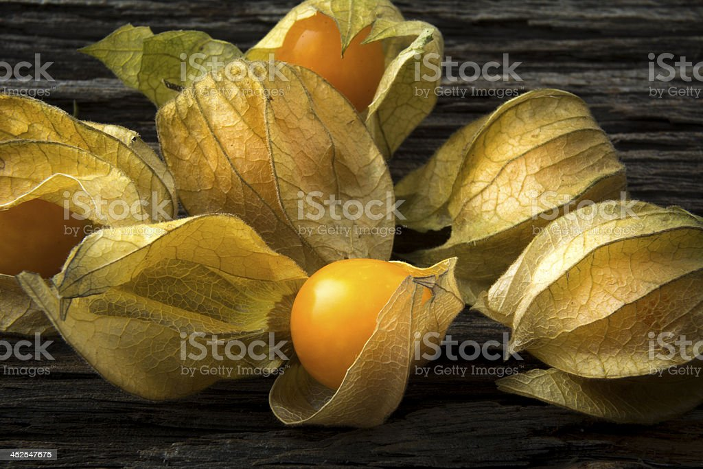 Gooseberries in Close stock photo