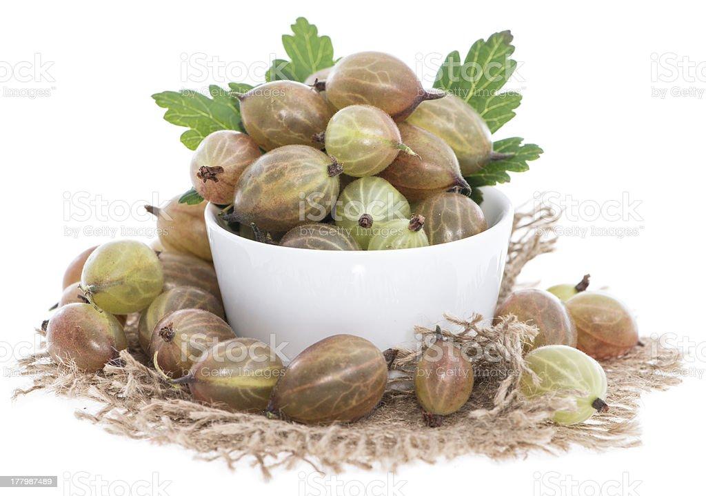 Gooseberries isolated on white royalty-free stock photo