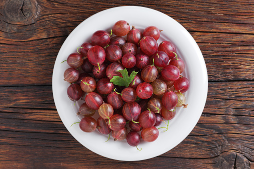Gooseberries on a plate