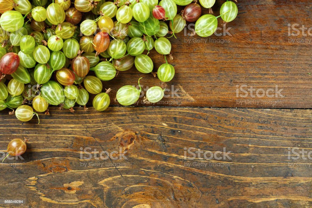 Gooseberries scattered stock photo