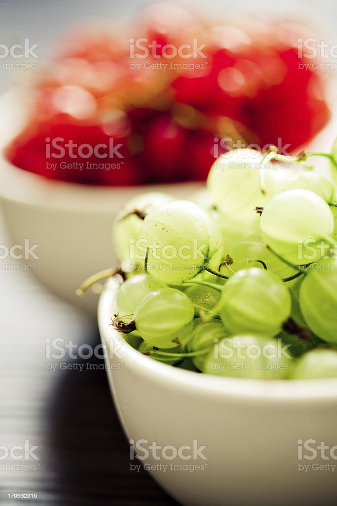 Gooseberry and red currant royalty-free stock photo