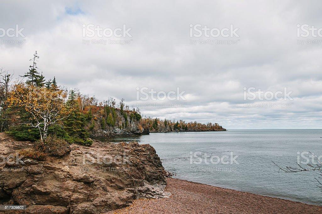 Gooseberry Falls State Park. Landscape autumn view near Lake Superior stock photo
