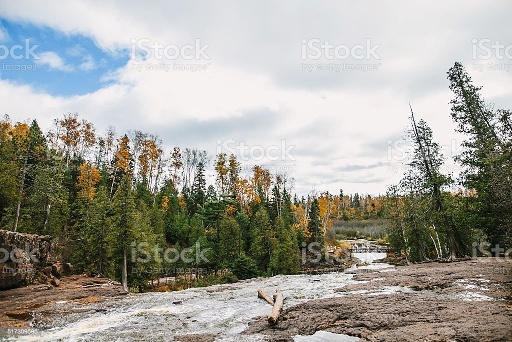 Gooseberry Falls State Park. River landscape autumn view. stock photo