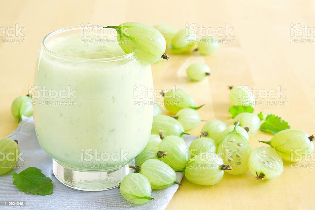 Gooseberry smoothie royalty-free stock photo