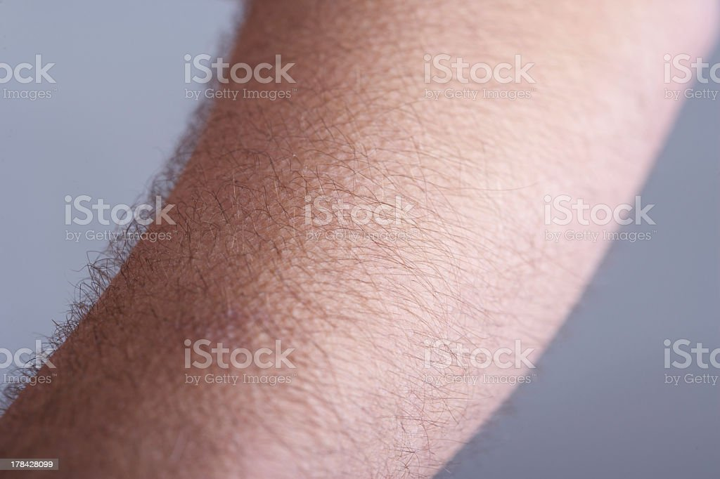 Gänsehaut auf Behaart Mann's Arms – Foto