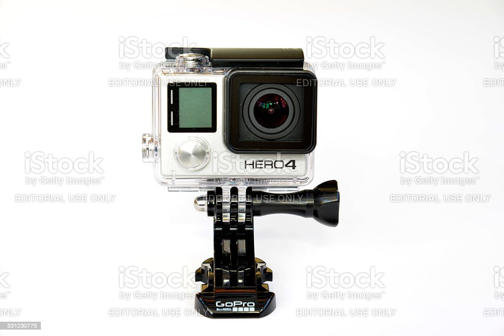 Gopro hero 4 black action camera. stock photo