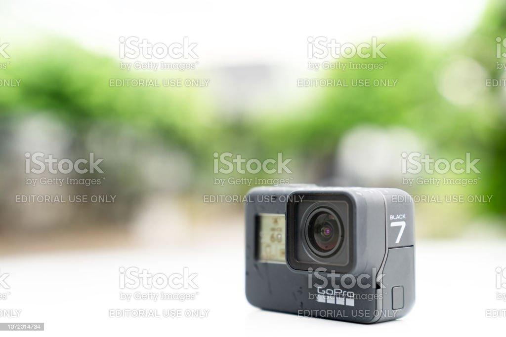 GoPro HERO 7 Black product in rainning day waterproof action camera....