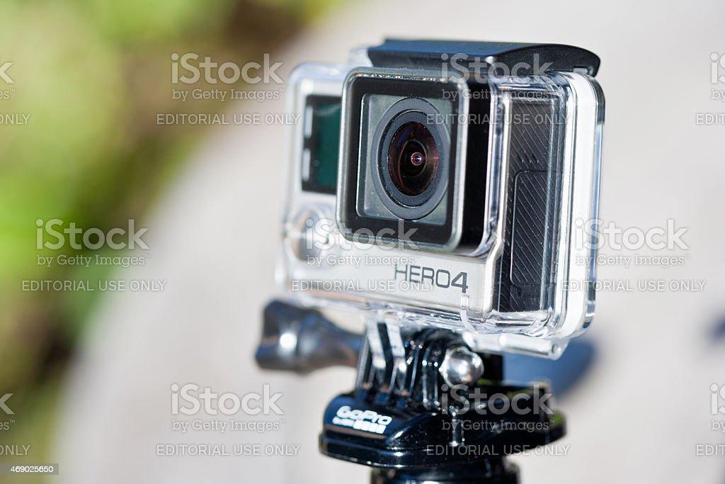 GoPro Hero four black edition action cam stock photo