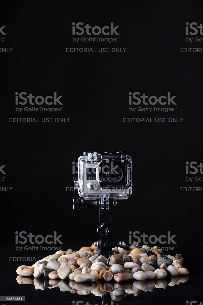 GoPro Hero3 Silver Edition Action Camera royalty-free stock photo