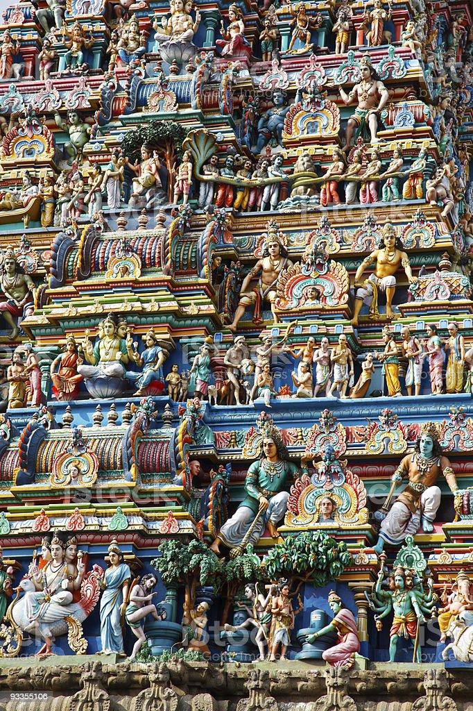 Gopuram (tower) of Hindu temple stock photo