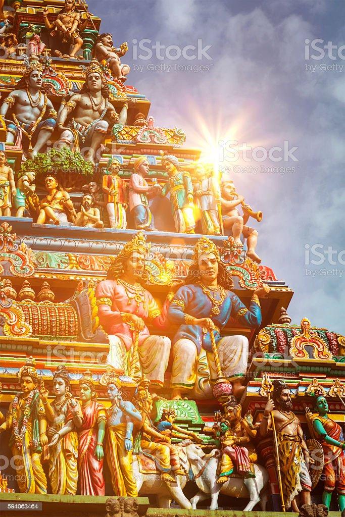 Gopuram tower of Hindu temple stock photo