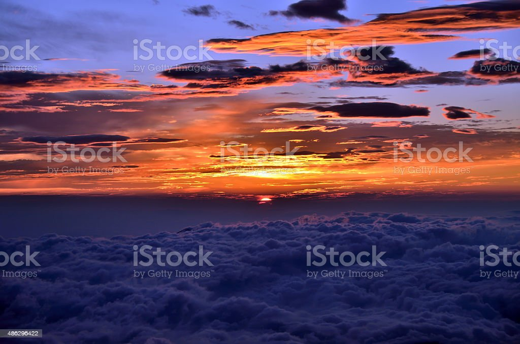 Goraiko (sunrise) seen stock photo