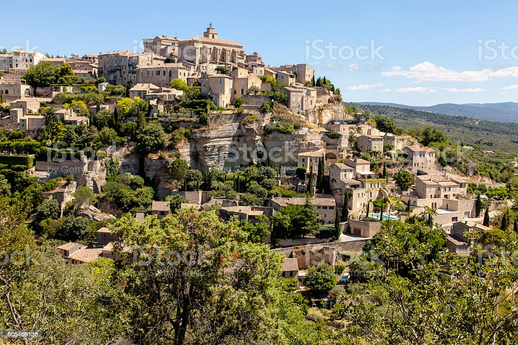 Gordes - A French Hilltop Town stock photo