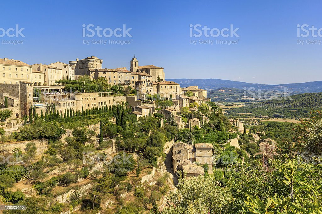 Gordes medieval village in Southern France stock photo