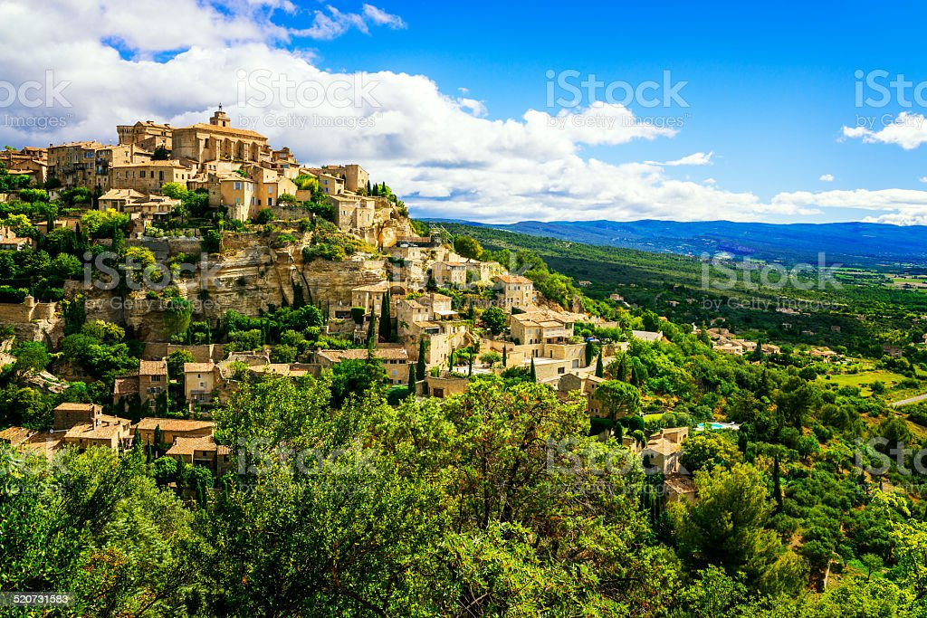 Gordes medieval village stock photo