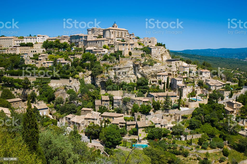 Gordes stock photo