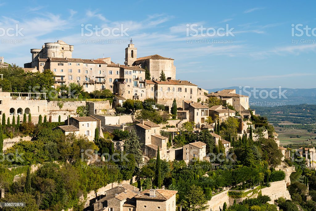 Gordes, picturesque village in Provence, France, Europe stock photo