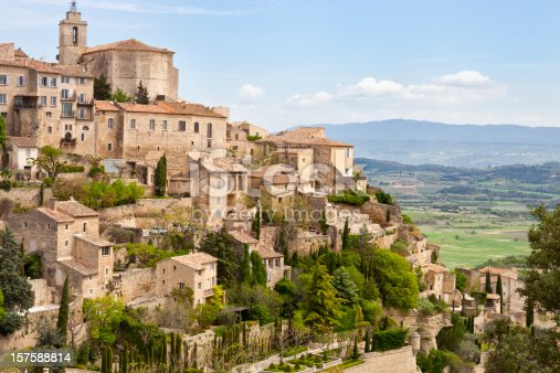 Gordes, Provence, France, Spring, Valley of Luberon.  One of the most beautiful villages in France