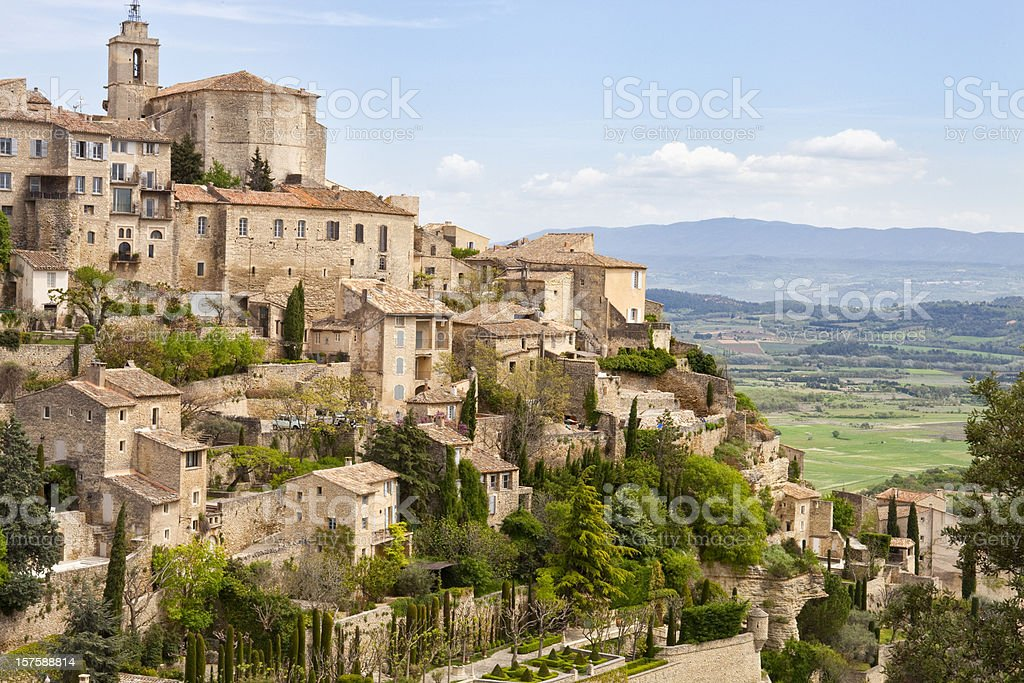 Gordes, Provence, France, Spring, Valley of Luberon stock photo