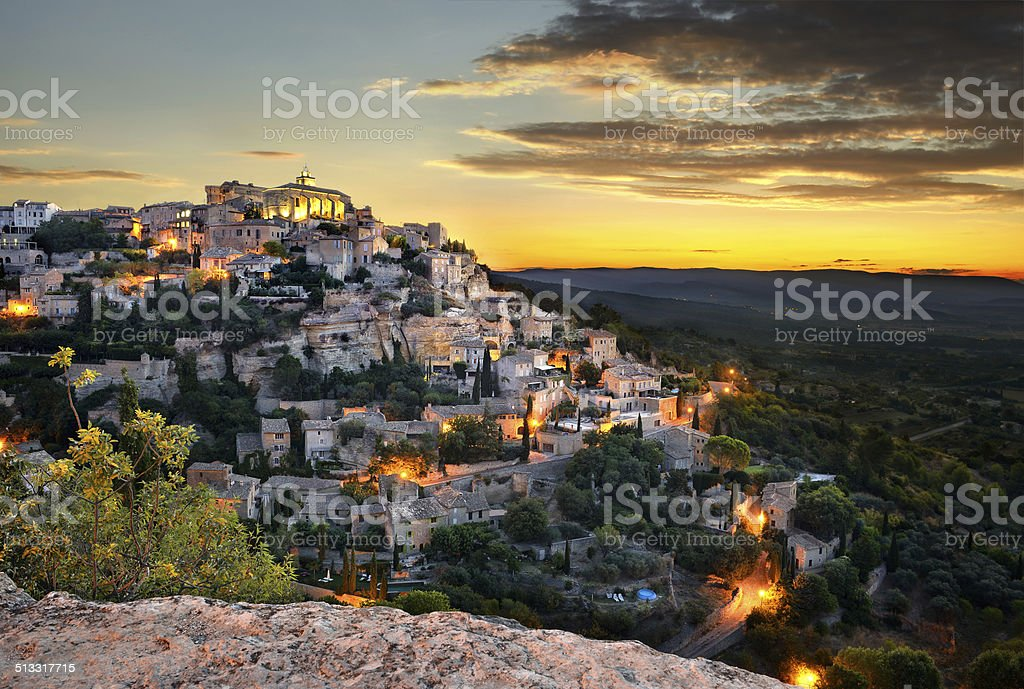 Gordes two stock photo