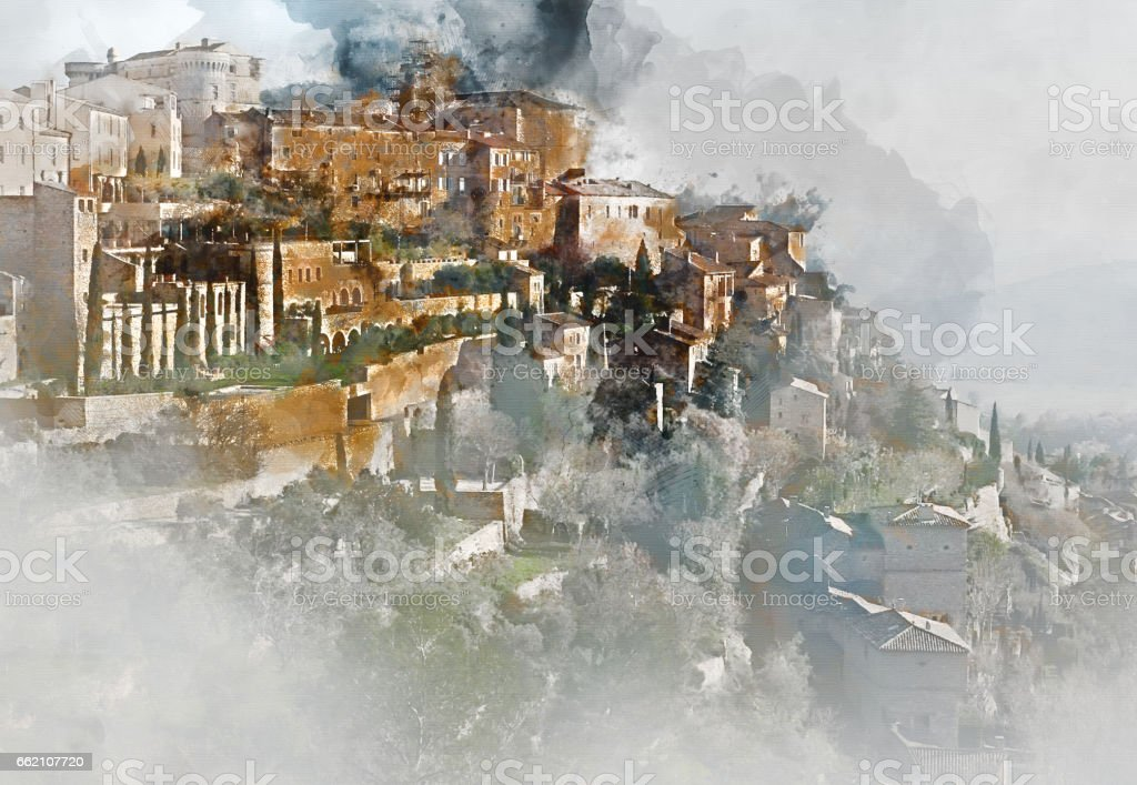 Gordes village in France royalty-free stock photo