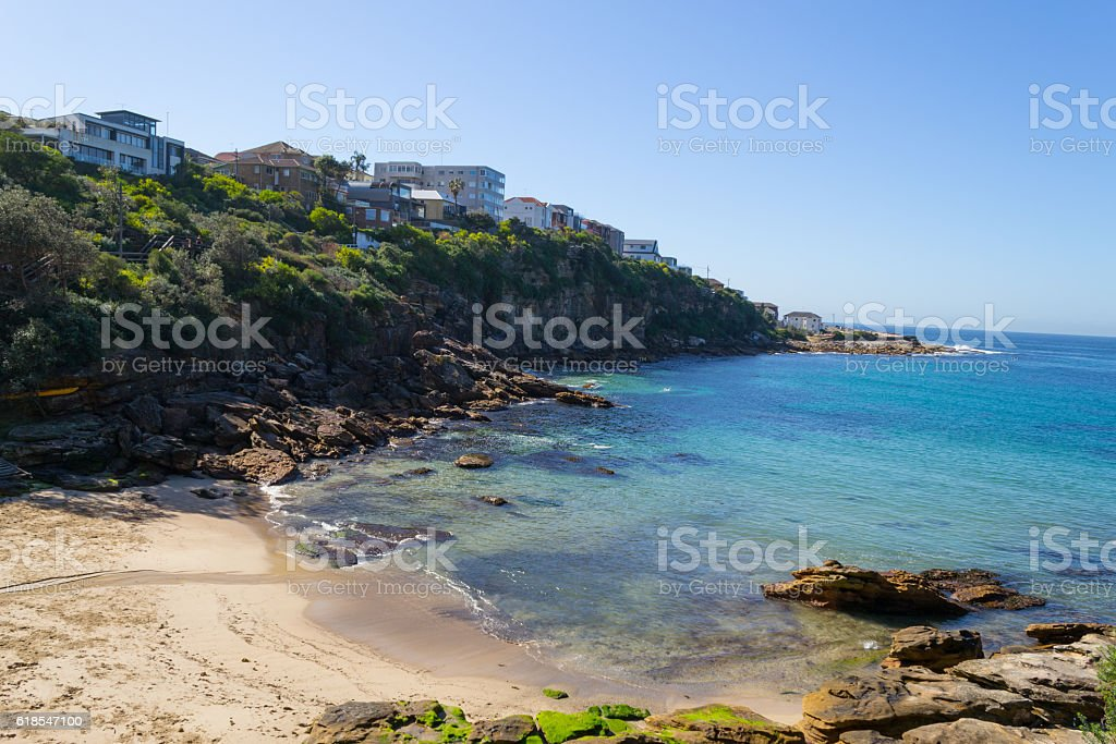 Gordons bay in the path from Coogee to Bondi stock photo