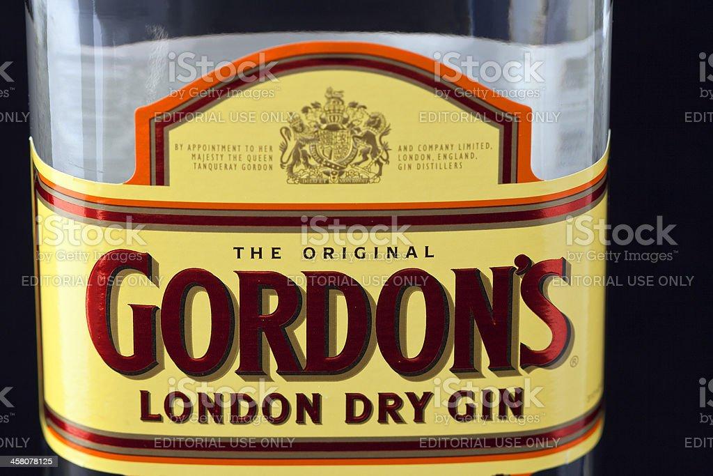Gordon's gin royalty-free stock photo