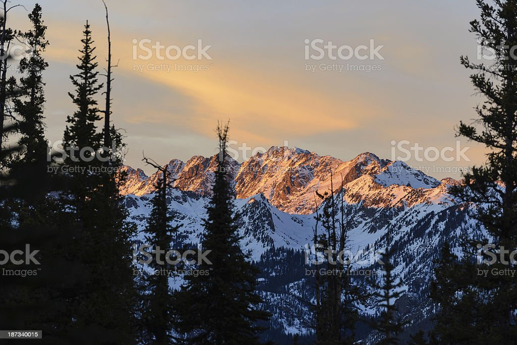 Gore Range Mountain Landscape in Winter royalty-free stock photo