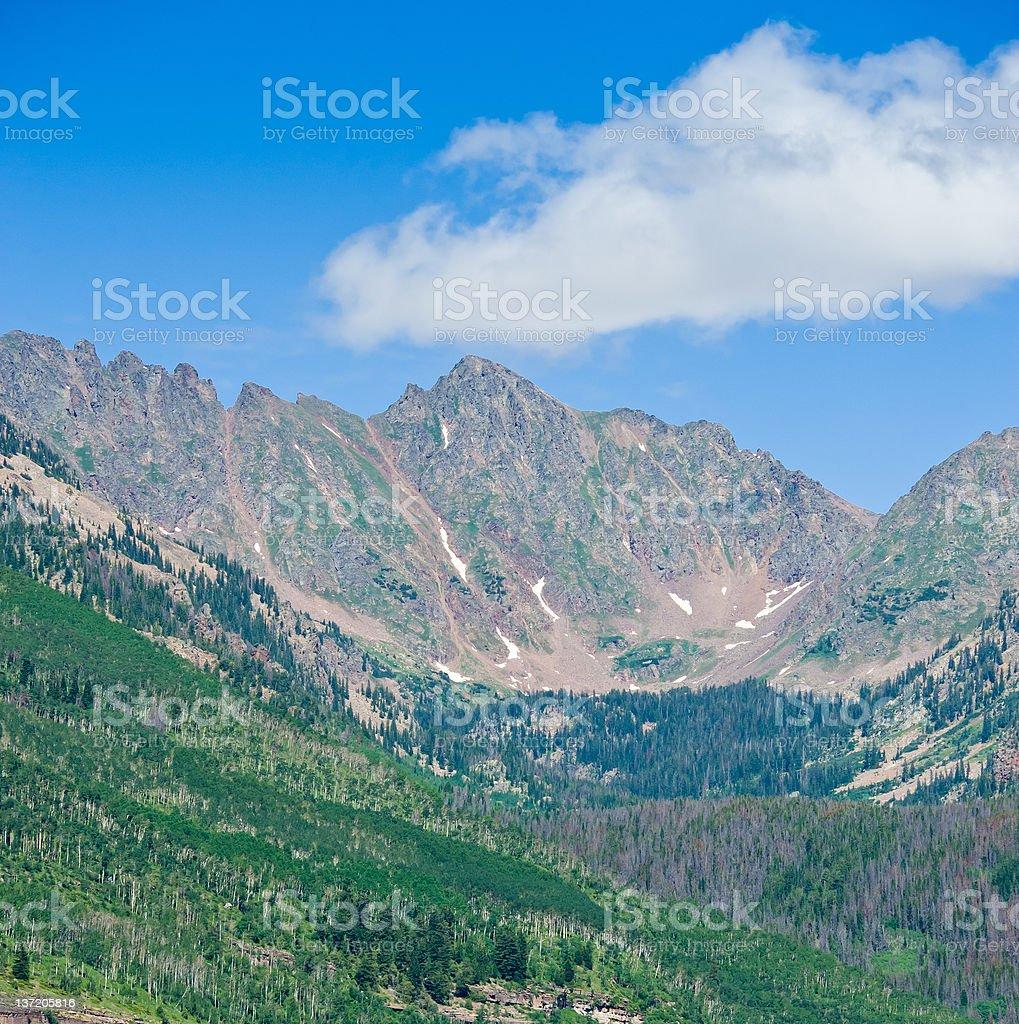 Gore Range Mountains in Summer Vail Colorado royalty-free stock photo