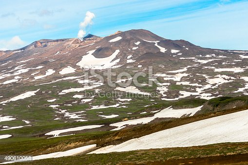 istock Gorely Volcano in Kamchatka 490610058