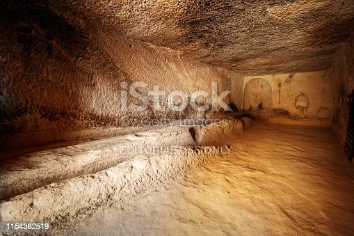 Nevşehir, Turkey - May 26, 2019:The open air museum or the rock sites of Cappadocia, Turkey, which is a unique attraction for tourists visiting Turkey