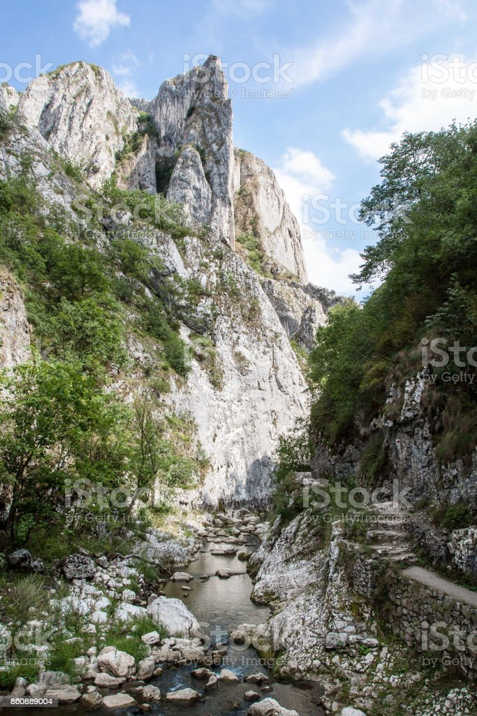 Gorge flowing stream stock photo